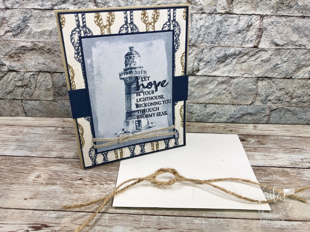 How to make a square knots or reef knots on a card.