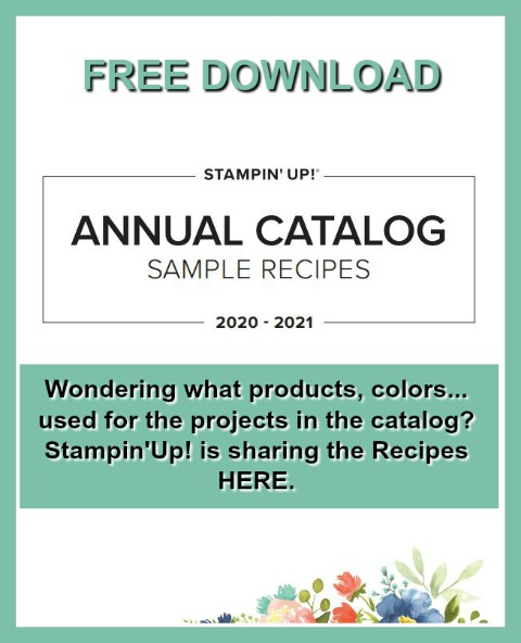 Stampin'Up! 2020-2021 Catalog All project, sample in the catalog Recipes.