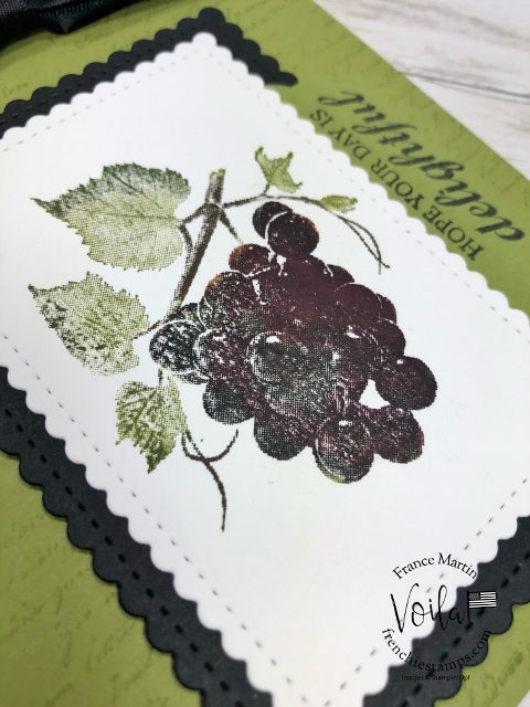 Slice of Happiness. Choice of may color for the grapes.