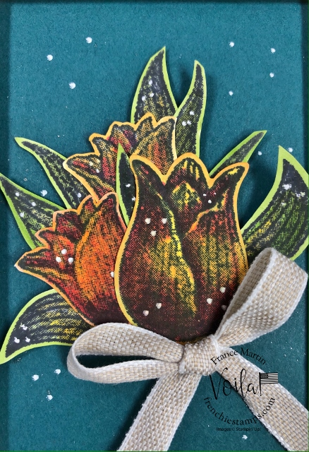Timeless Tulips with Stampin' Blends for a vivid colors of tulips.