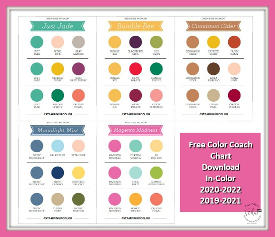 Free Download Stampin'Up! In-Color 2019-2020, 2020-2022 Color Coach