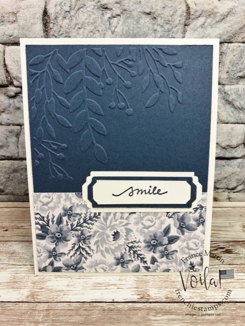 Flower for Every Season designer paper and Lovely Labels Pick a Punch, Lovely You Stamp set.