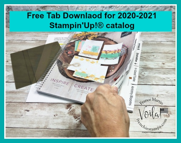 Tab for the 2020-2021 Stampin'Up! annual catalog.