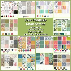 Free Chart Download of the 2020-2021 Stampin'Up!® Designer Paper