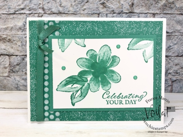 Monochromatic Just Jade Stampin'Up! In-Color 2020-2022.