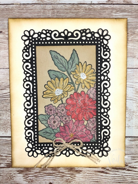 Vintage card with the Ornate Style Bundle.