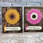 Sunflower on Stain Wood. Simple way to get the look of stain wood