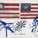 Forth of July Cards. Red, White and Blue. Daisy Punch and Rustic Flag with the In Good Taste designer paper.