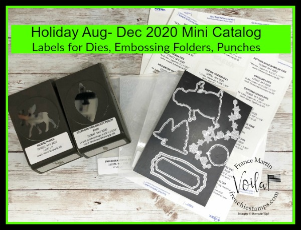 Organize Your Stampin'Up! Products of the 2020 Holiday Mini Catalog with Labels