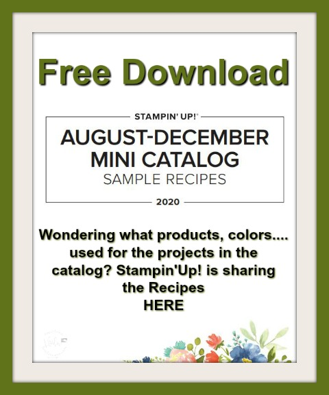 Stampin'Up! 2020 Holiday Catalog All project, sample in the catalog Recipes.